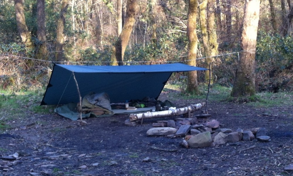 Wildcamping in the Woods March 2014